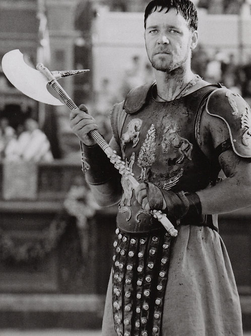 Russell Crowe. Gladiator. Press Photo (no stamp). 2000. Superbe