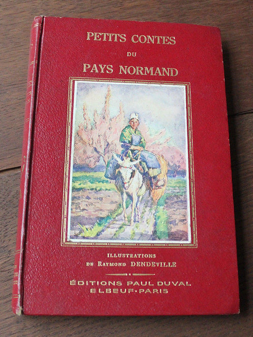 1935 Petit contes du pays norman Cartonnage livre pour enfants