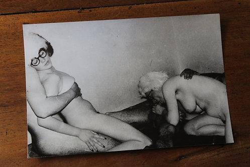 Photographie originale érotique amateur (vers 1970). 18 x 12 cm. Party 17