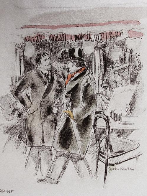 Léo Larguier. Au Café de l'Univers (1945). Illustrations de Jeanne Coussens