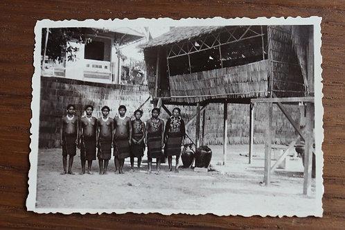 Photographie ancienne 1937 Viêt Nam Vinh Long Femmes Moï