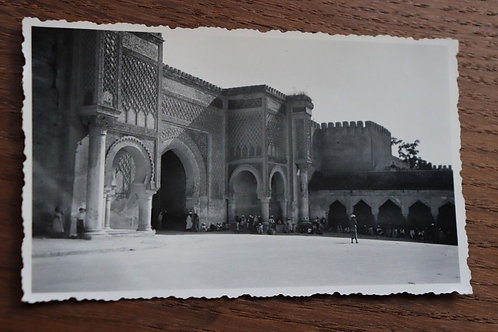 Photo ancienne vers 1930 Maroc Afrique Meknes Mansour