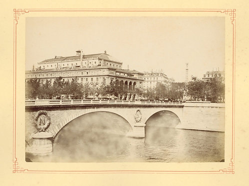 Paris 1890 1900 Photographie ancienne monument scène animée Tirage albumine 19