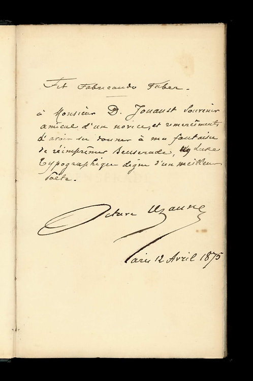 Les Poésies de Benserade. Octave Uzanne. 1875. 1/15 ex. Autographe. Unique.