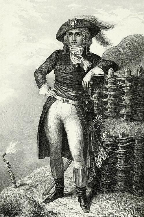 ST-JUST 1840 / 1850 Portrait révolution française Belle Gravure acier