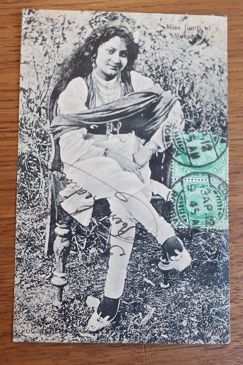 CPA Inde A Bhil Woman 1912 Femme Hindou India Bombay