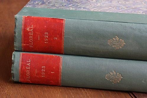Revue Floréal année 1923 tome I & II culture politique socialisme art actualité