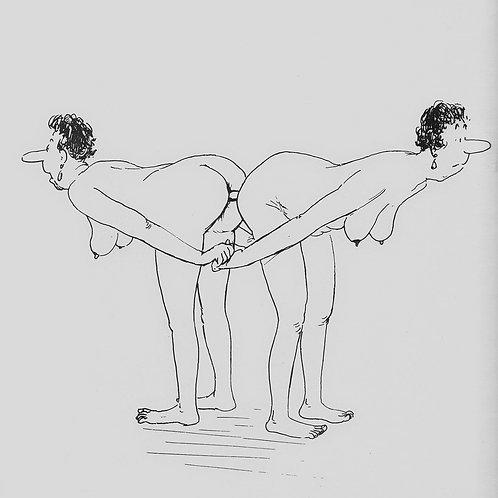 Portfolio de 40 planches érotiques par Tetsu (1960). 400 exemplaires