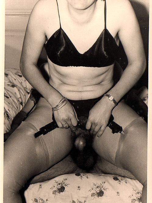 Photographie Amateur Vintage X (vers 1965). Chevauchée ...