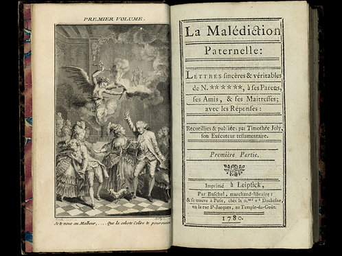 Rétif de la Bretonne [Restif de la Bretone]. La Malédiction Paternelle (1780).