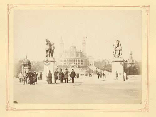 Paris 1890 1900 Photographie ancienne monument scène animée Tirage albumine 4