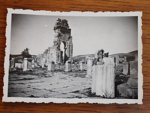 Photo ancienne 1930 Maroc Afrique Ruines de Volubilis Antiquité