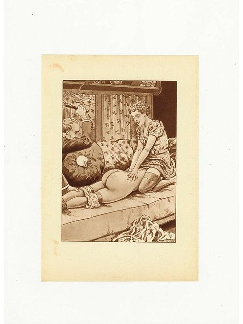 1938 Etienne Le Rallic R. Fanny héliogravure Fouet Fessée bdsm curiosa