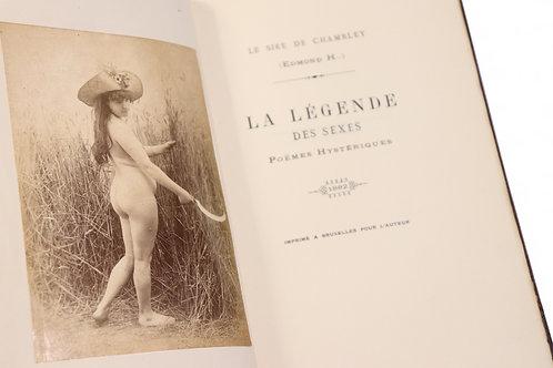 Edmond Haraucourt. La Légende des Sexes (1883). Superbe contrefaçon de l'EO