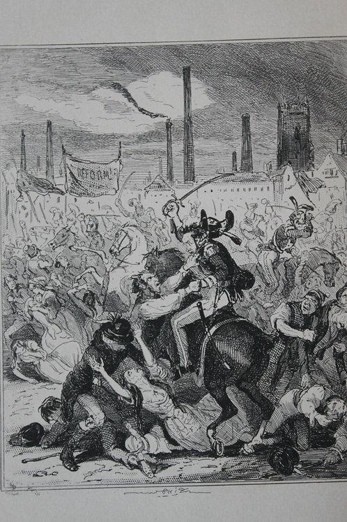 1880 Gravure Phiz Chronicles of crime, Manchester Massacre