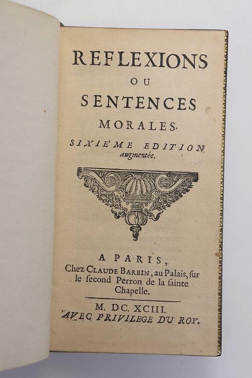 Les Maximes de La Rochefoucauld (1693). Maroquin de Thibaron. Superbe