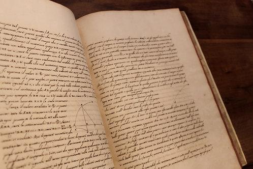 Principi di Meccanica (1759). Manuscrit scientifique en italien. Unique