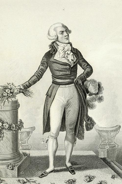 ROBESPIERRE vers 1840 / 1850 Portrait révolution française Belle Gravure acier