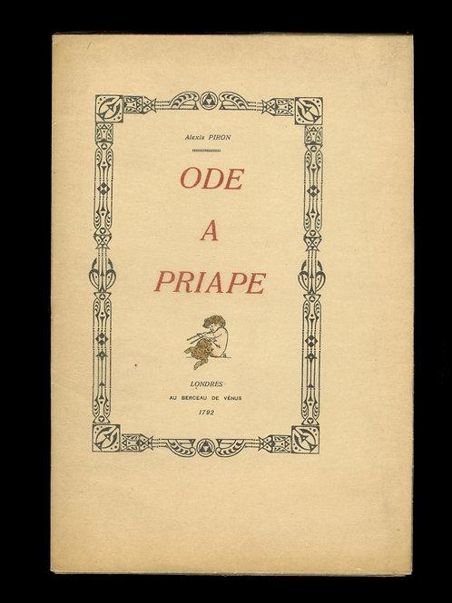 Alexis Piron. Ode à Priape (1930). 1 des 5 exemplaires sur Japon bois de rose