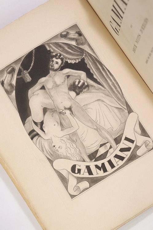 Alfred de Musset. Gamiani ou Deux Nuits d'excès (1933). 10 eaux-fortes de Collot
