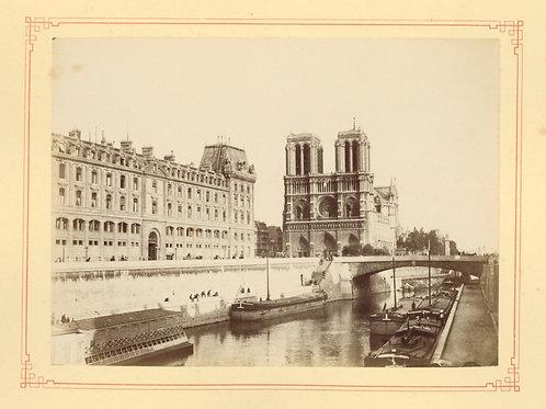 Paris 1890 1900 Photographie ancienne monument scène animée Tirage albumine 3 Se