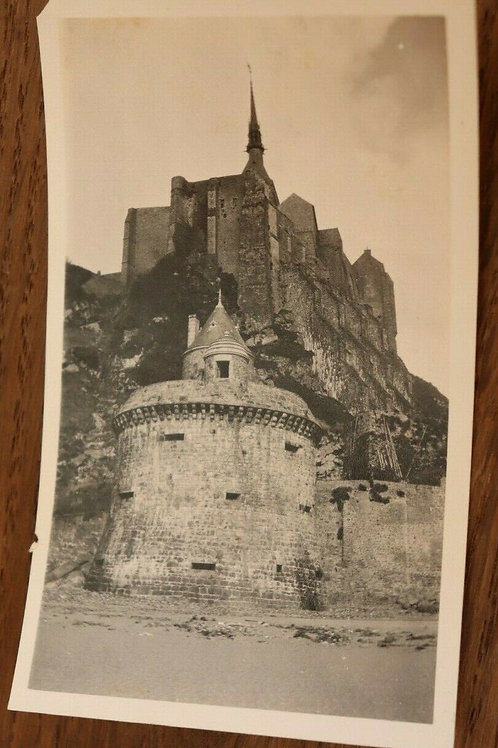 Photo ancienne 1930 Mont-Saint-Michel Manche Normandie