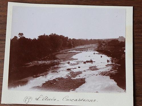 Photographie ancienne 1899 L'Aude Carcassonne