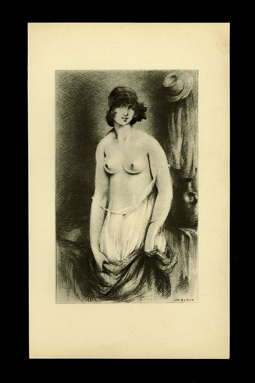 Jim Black Luc Lafnet  illustration héliogravure curiosa années 30