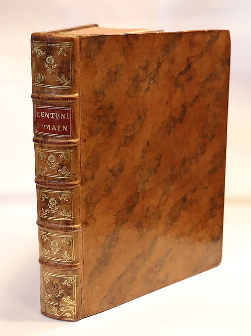John Locke. Essai sur l'entendement humain (1742) in-4. Ex. Dupleix guillotiné