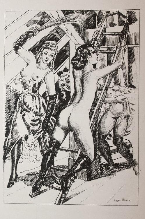 Diana Gantée (1932). 16 héliogravures. Orties Blanches (Fessée, BDSM)