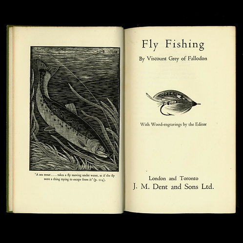 1934 Viscount Grey of Fallodon Fly Fishing Pêche à la mouche Angling Bois gravé