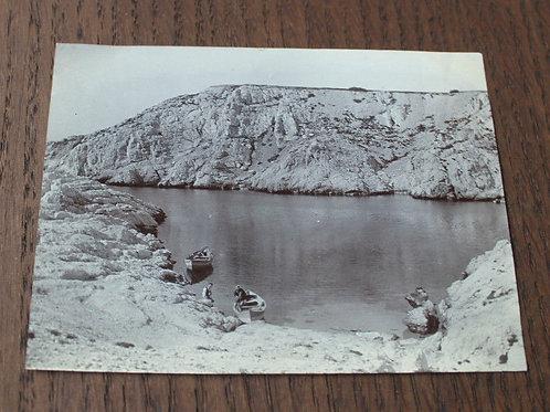 Photographie ancienne 1905 Marseille Calanque du Banc Ile Ratonneau Frioul
