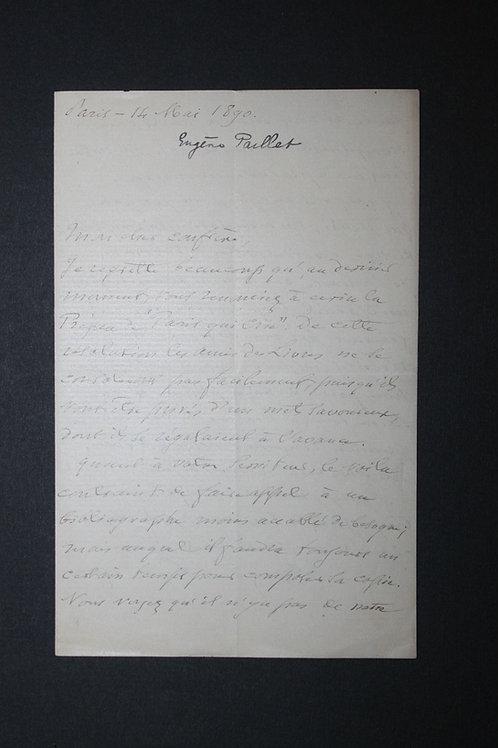 Lettres autographes d'Eugène Paillet bibliophile à Octave Uzanne (1890)