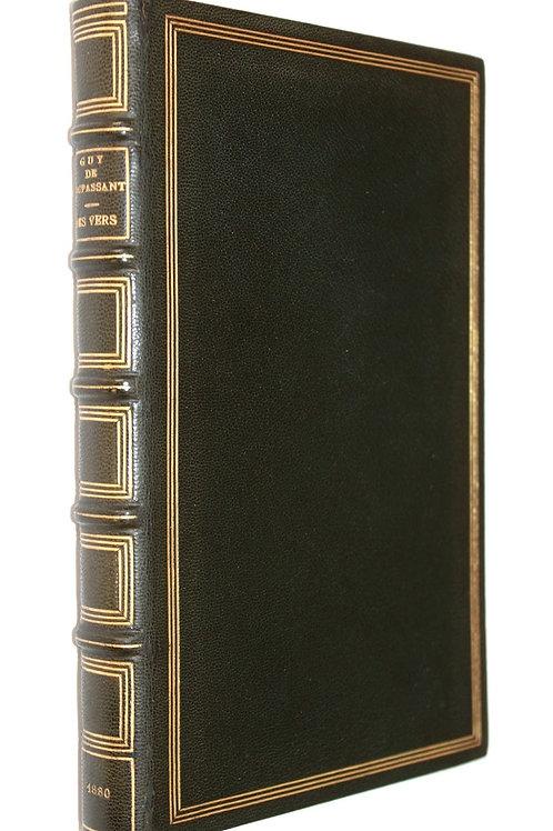 Des Vers par Guy de Maupassant (1880). Reliure plein chagrin