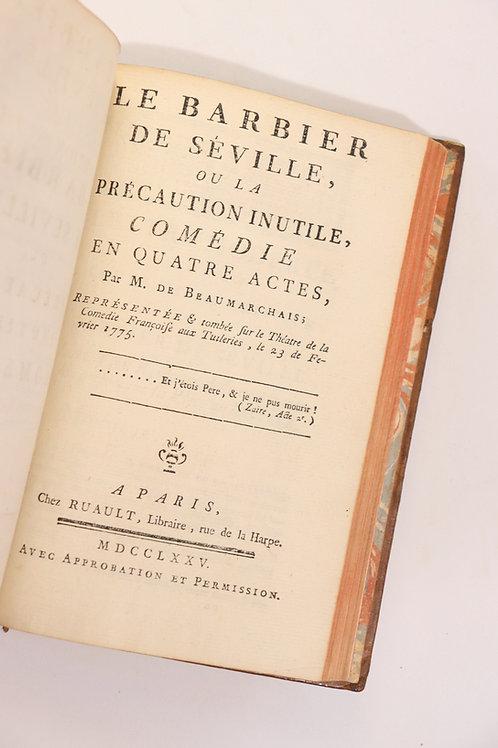 Beaumarchais. Le Barbier de Séville (1775). Théâtre XVIIIe siècle.