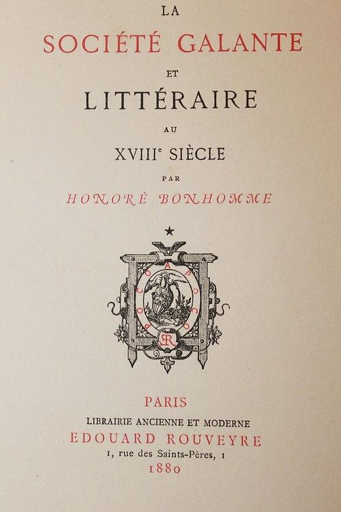 Honoré Bonhomme. La Société Galante et Littéraire au XVIIIe siècle. 1/12 Japon