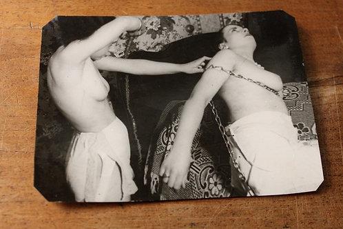 6 photographies argentiques 1925/1930 BDSM Bondage Domination Sado-Masochisme