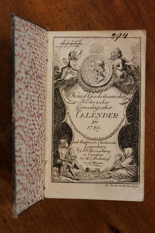 Almanach en allemand de l'année révolutionnaire (1789). Figures et Costumes