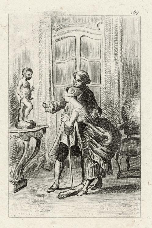 Estampe érotique (gravure sur cuivre) vers 1870-1880 ? N°6