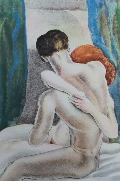 Mariette Lydis. Estampe érotique (1935). Nu (3)