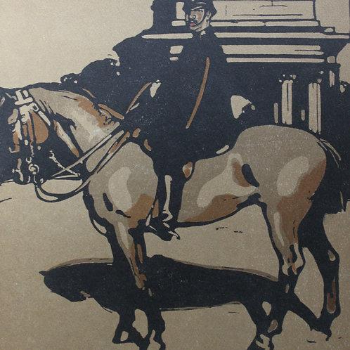 London Le Policeman lithographie de W. Nicholson 1898
