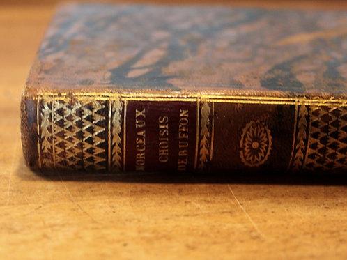 Buffon. Morceaux choisis (1812). Vignettes animalières gravées sur bois. Reliure