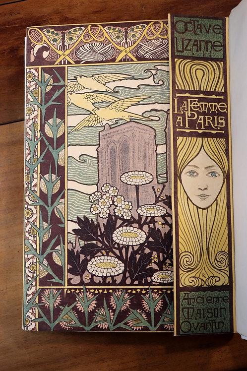 Octave Uzanne. La femme à Paris (1894). Reliure. Dédicace. Rare.