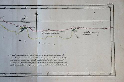 1765 1770 Map Carte géographique Atlas Philippe de Prétot Java Indonésie