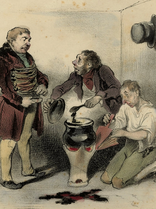 1839 Daumier Les Robert-Macaire Planche n°61 Caricature XIXe coloris époque rare