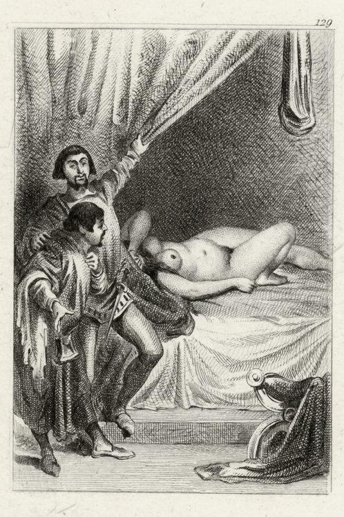 Estampe érotique (gravure sur cuivre) vers 1870-1880 ? N°1