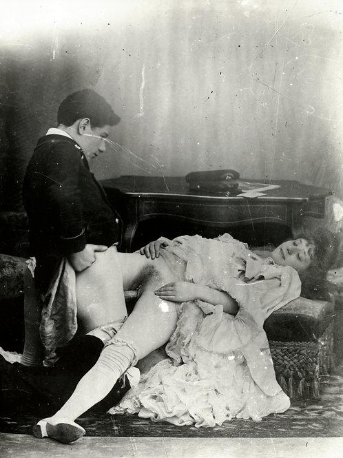 Photographie X 1900 d'après plaque de verre (retirage). Ref. 0236