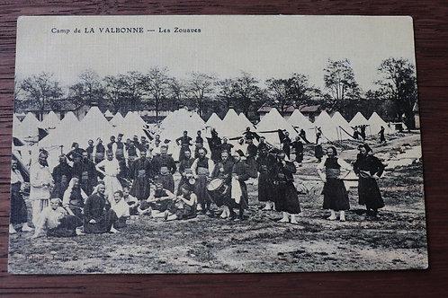 CPA militaire Camp de la Valbonne Les Zouaves Ain