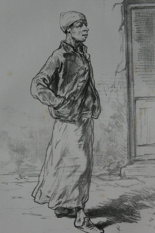GAVARNI Lithographie originale série PHYSIONOMIES PARISIENNES - BOULANGER