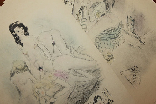 André Collot. 7 gravures érotiques. Plaisirs saphiques.